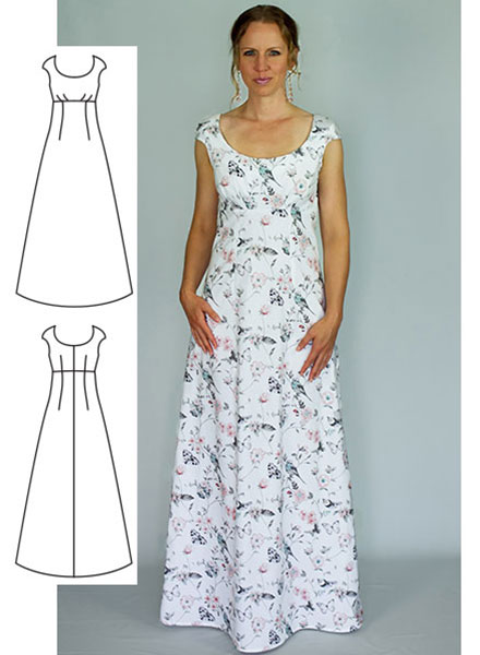 long womens dress sewing pattern