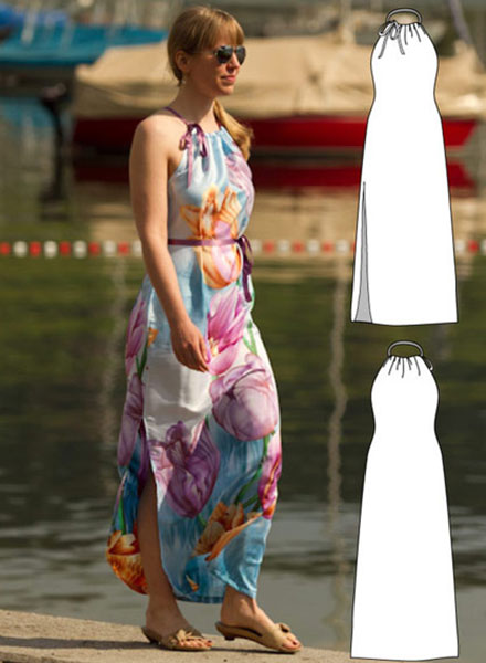 A womens maxi dress pattern that you will love for a long time.
